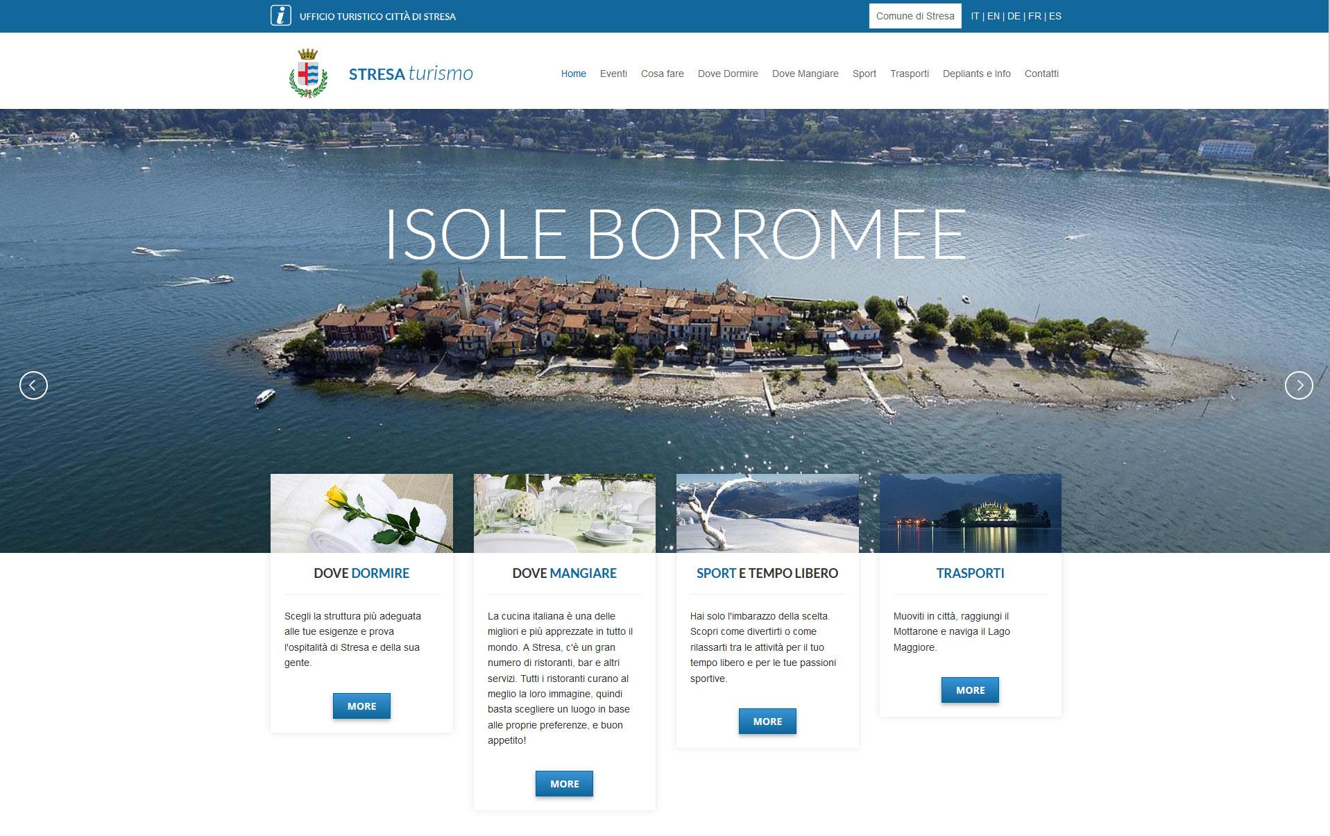 portale turistico realizzato con umbraco - stresa turismo