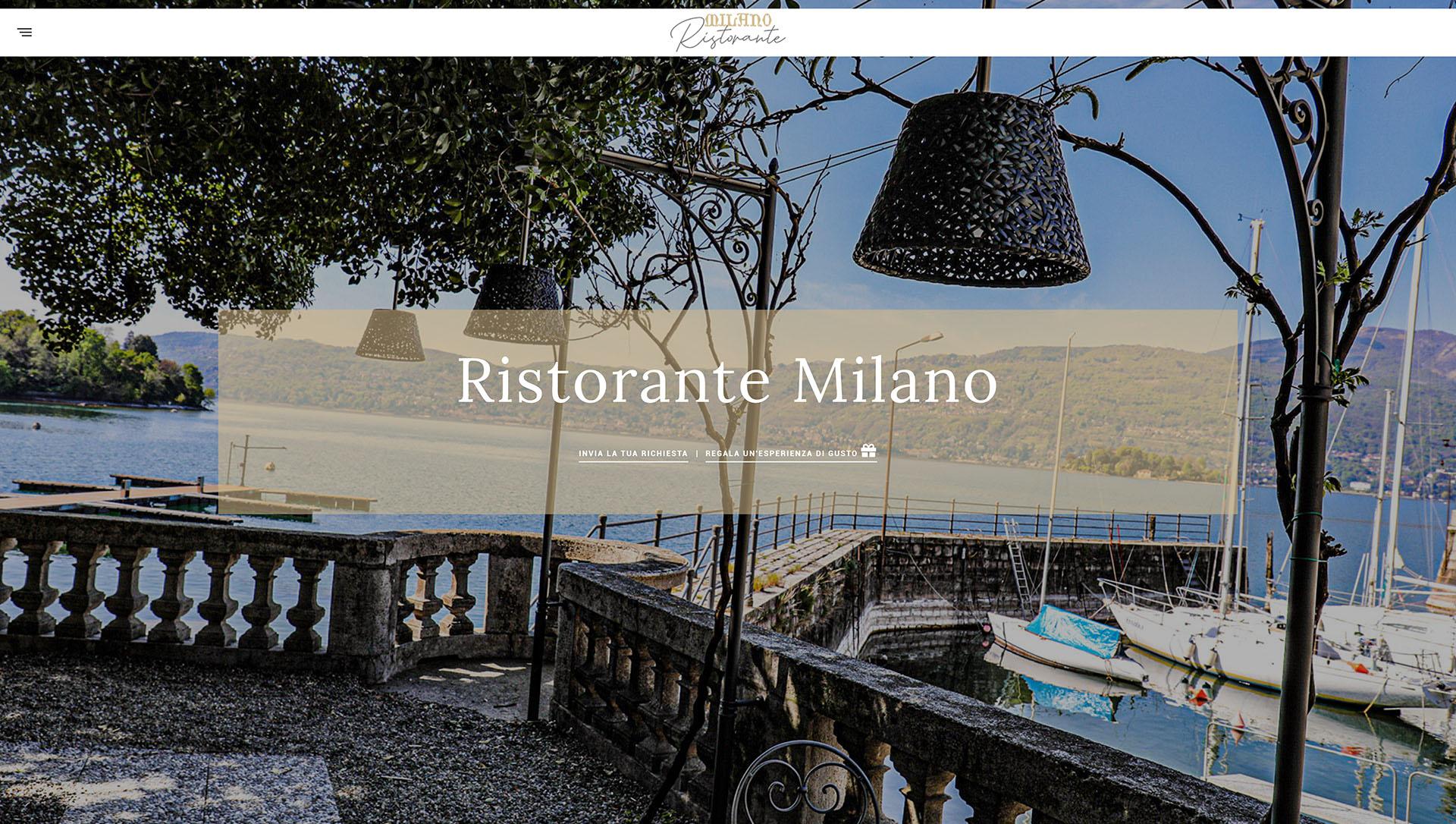 sito web wordpress - ristorante milano